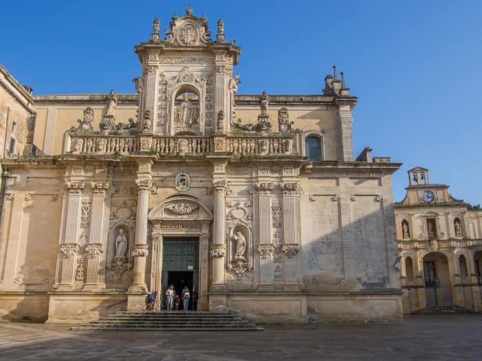Lecce Cathedral is one of the top things to do in Lecce, Italy, our favourite city in Puglia