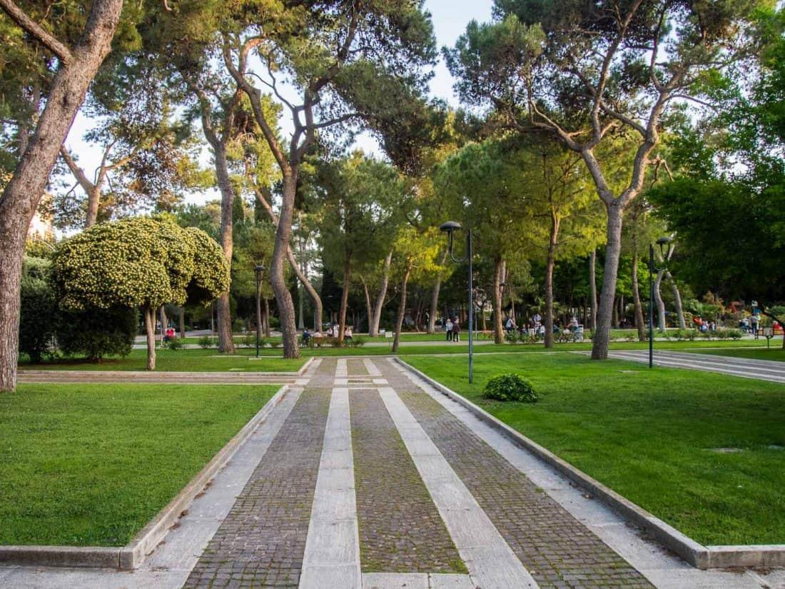 Villa Communale Park in Lecce