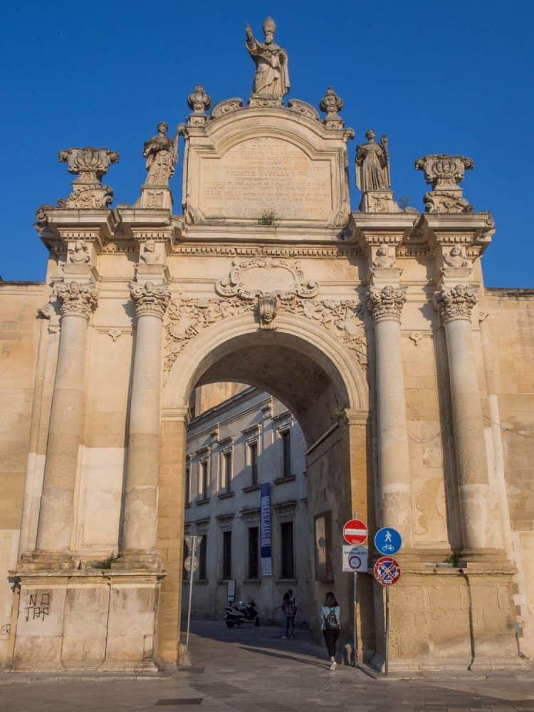 Porta Rudiae in Lecce, Puglia