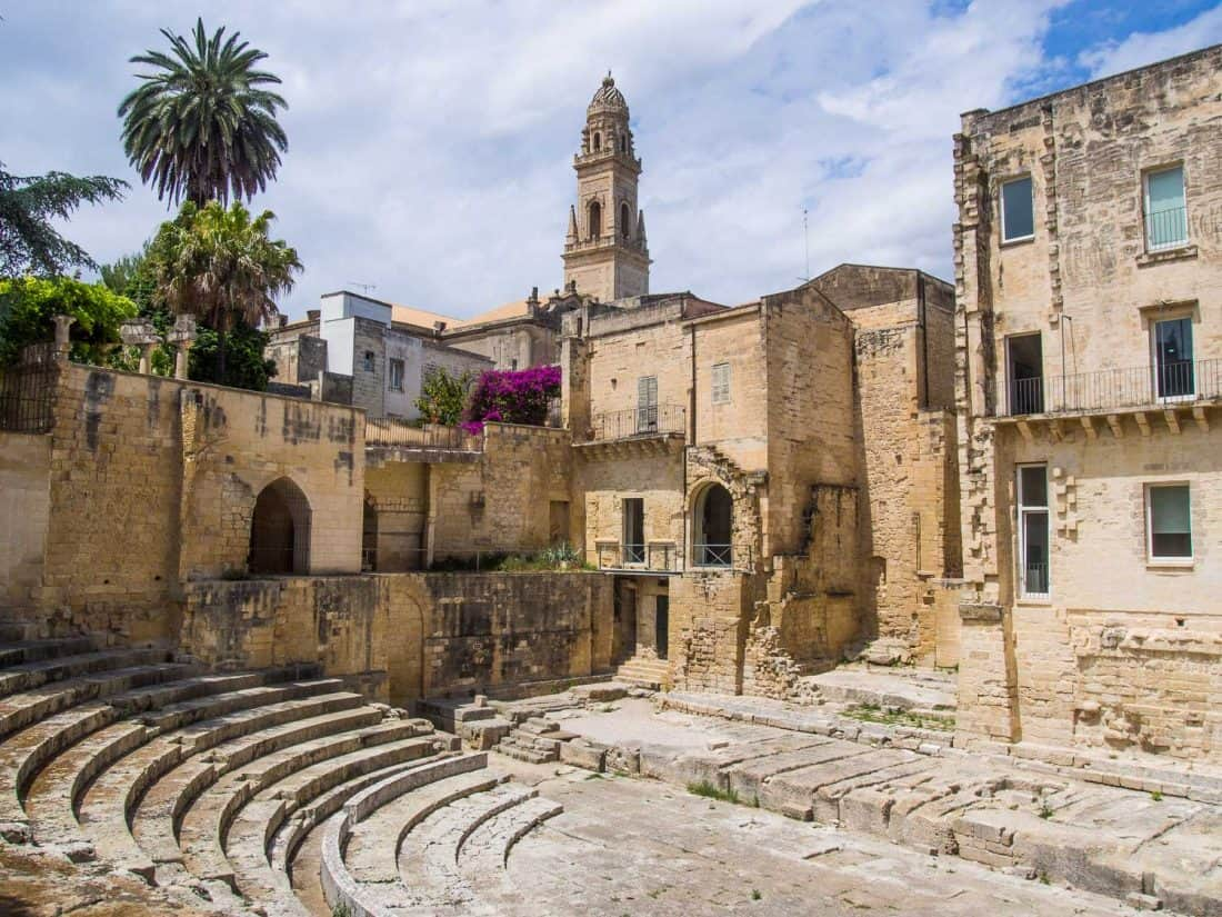 The Roman Theatre, a hidden attraction in Lecce, Puglia
