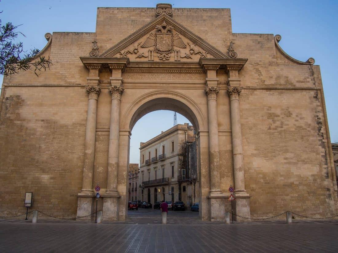 Porta Napoli in Lecce, Italy