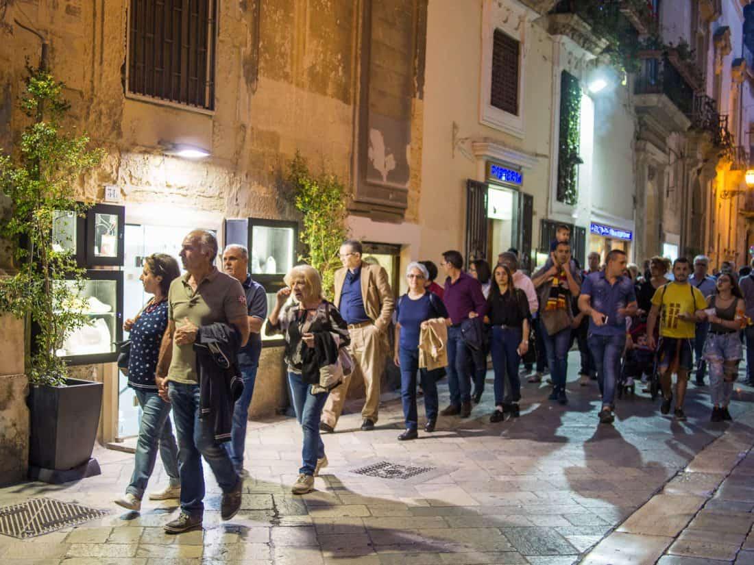 Passeggiata in Lecce, Puglia