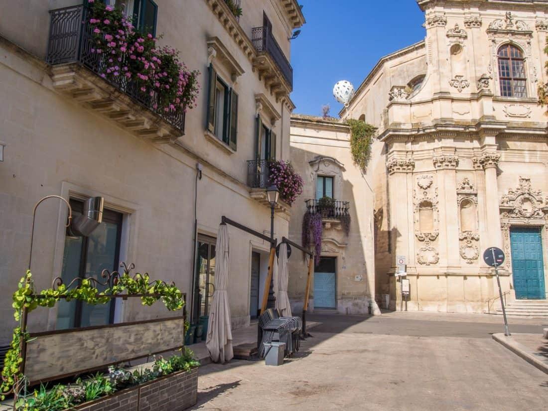 Santa Chiara baroque church in Lecce