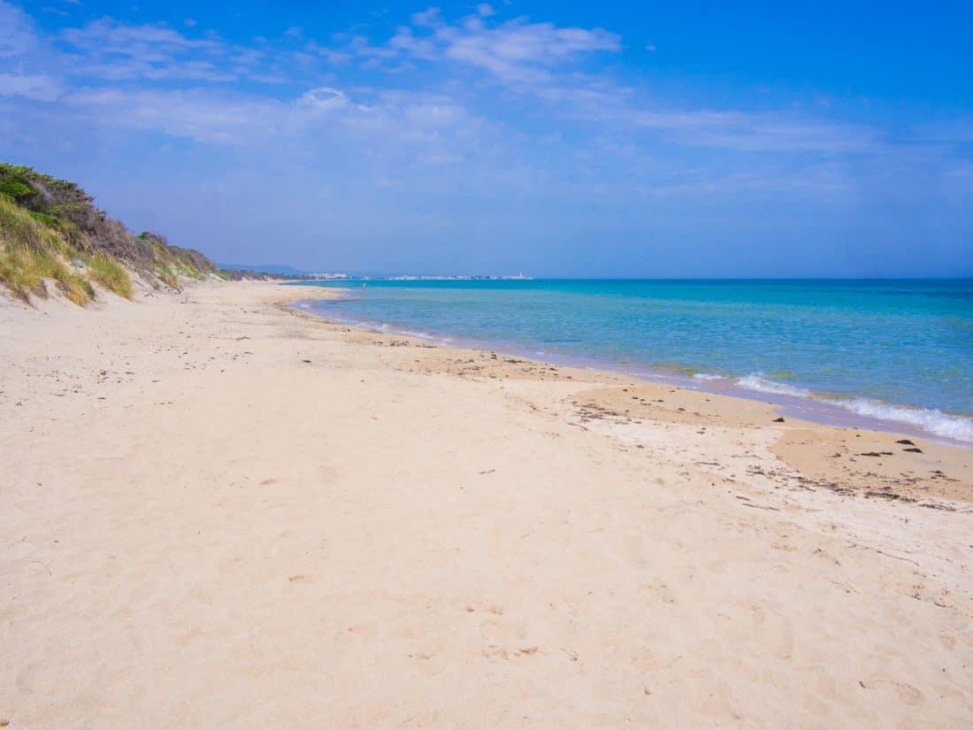 Lido Morelli beach near Ostuni in Puglia Italy