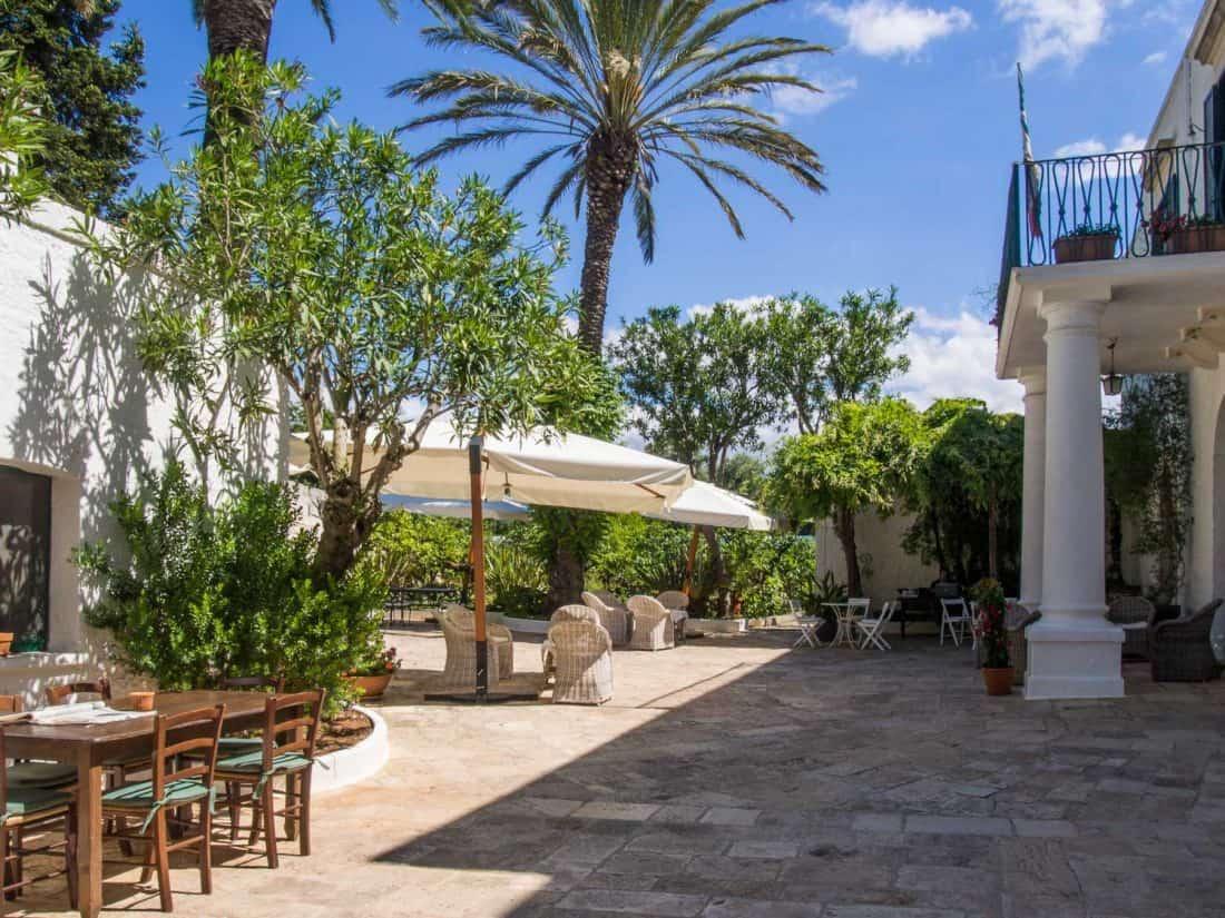 Courtyard at Masseria Il Frantoio, Ostuni