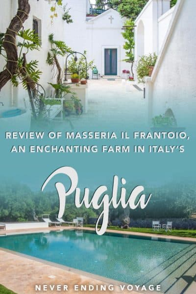 Ever wanted to stay in a charming masseria in Puglia, Italy? Here's a review of Masseria Il Frantoio near Ostuni, one of our favorite places to stay in Italy! #wheretostayinitaly #puglia #ostuni #masseria #italytravel #europe #europetravel