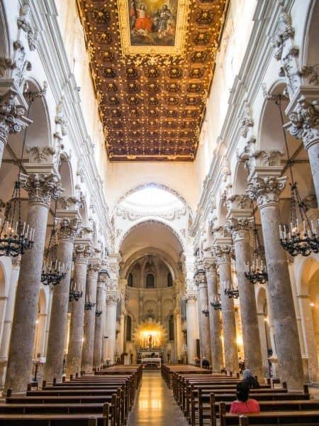 The interior of Basilica di Santa Croce in Lecce