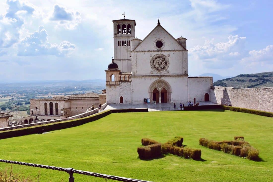 Basilica of Saint Francis in Assisi in Assisi a hill town in Umbria, Italy