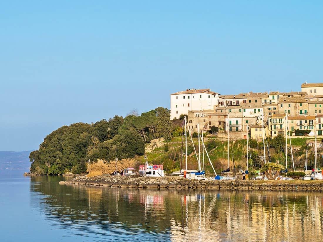 Bolsena Lake near Rome in Italy