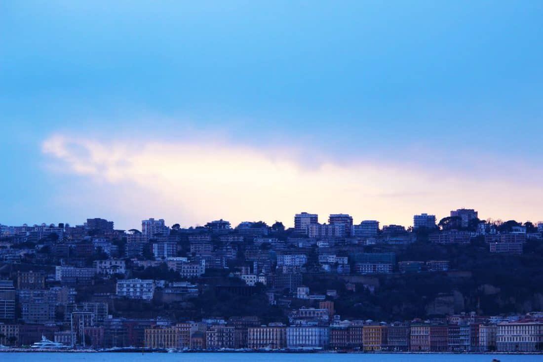 The Naples skyline on a day trip from Rome