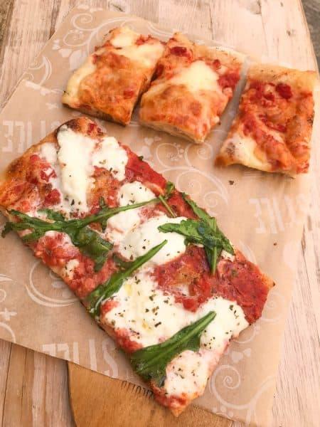 Pizza slices at Il Pizzicotto, Lecce