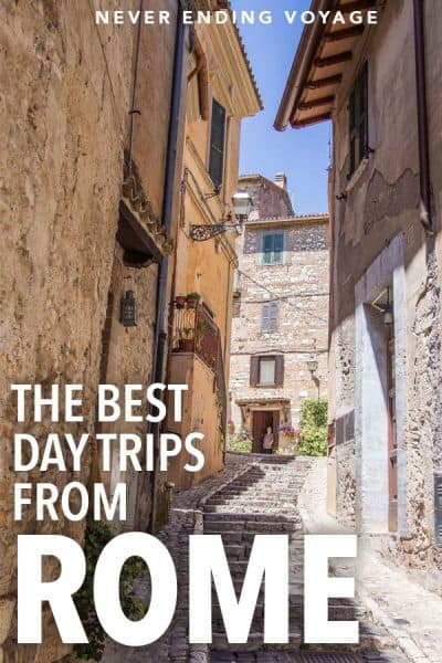 While Rome is a fantastic city to visit, here are 15 incredible day trips you don't want to miss! #rome #romedaytrip #italy #italydaytrip #italytravel #europe #europetravel