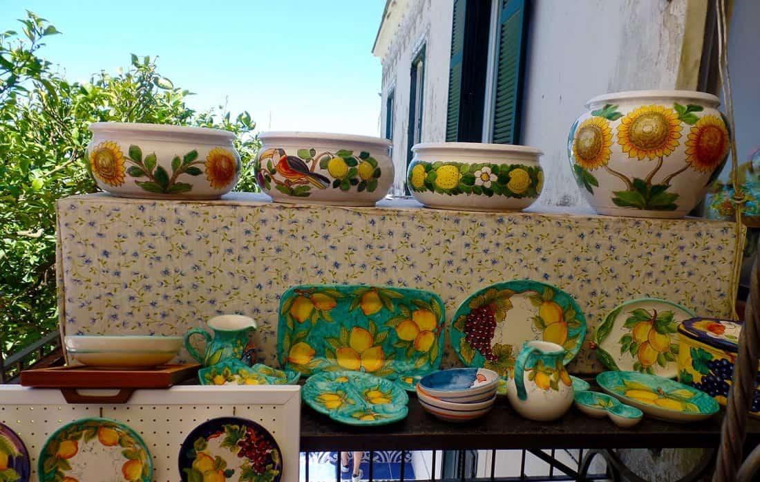 Shopping for ceramics in Sorrento, Italy