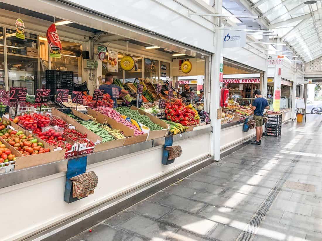 Vegetable stall in Testaccio market, Rome