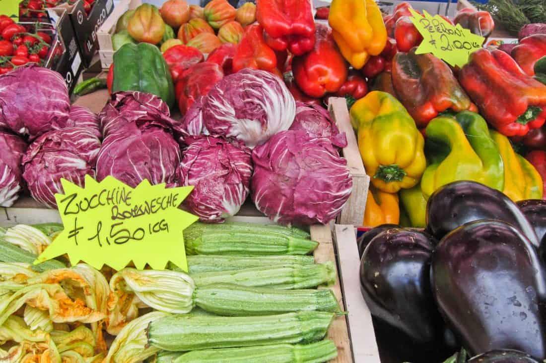Vegetables at Rome Testaccio Market
