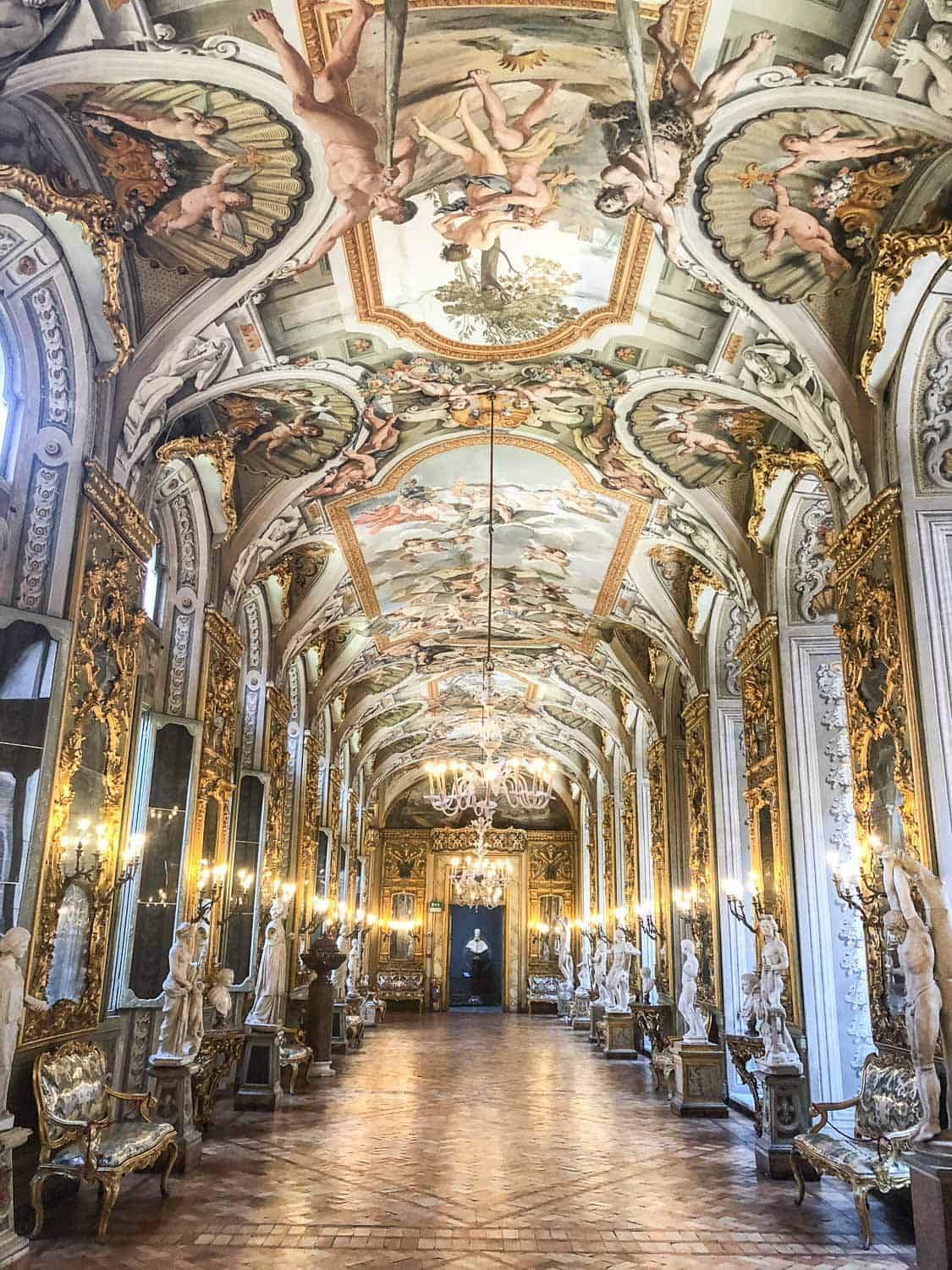 Gallery of Mirrors at Palazzo Doria Pamphilj, one of the best unusual things to do in Rome