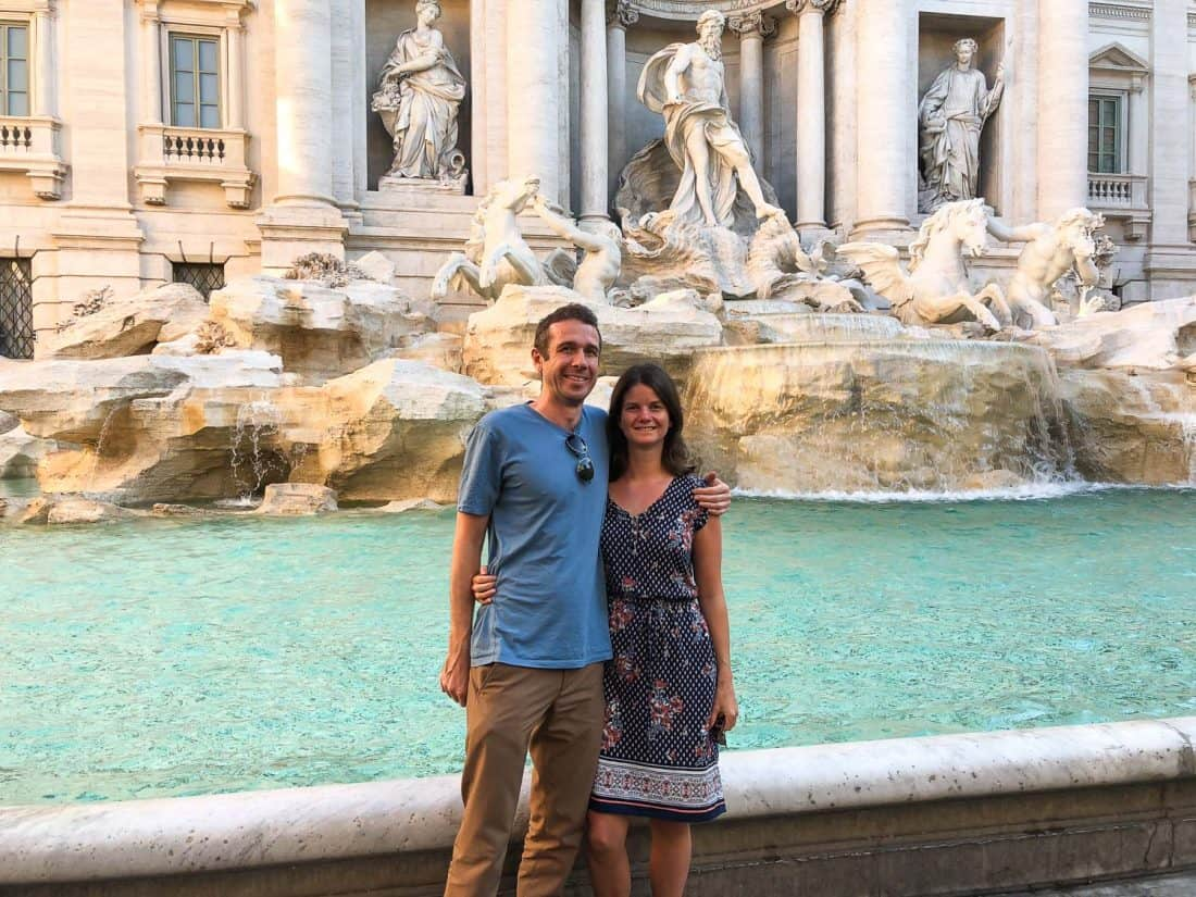 Erin and Simon at the Trevi Fountain, Rome