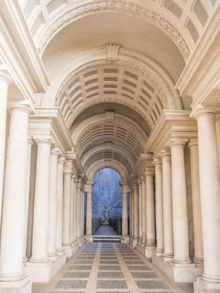 Forced perspective gallery by Francesco Borromini at Galleria Spada in Rome