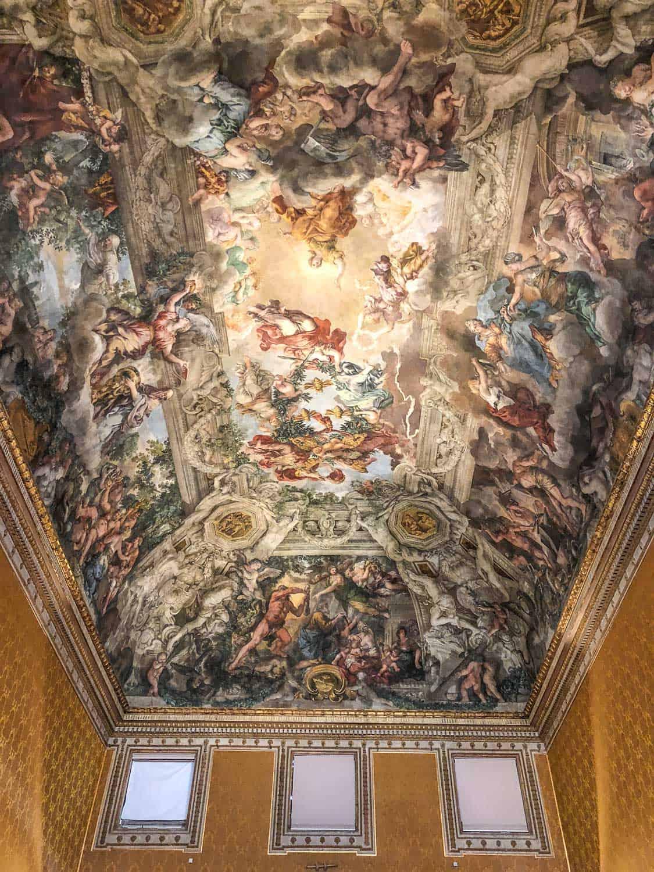Ceiling fresco by Pietro da Cortona at Palazzo Barberini, Rome