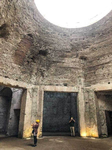 The octagonal room at the Domus Aurea or Golden House in Rome