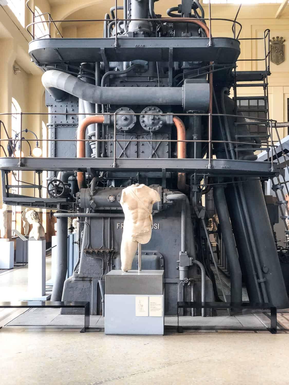 Centrale Montemartini museum in Ostiense, Rome