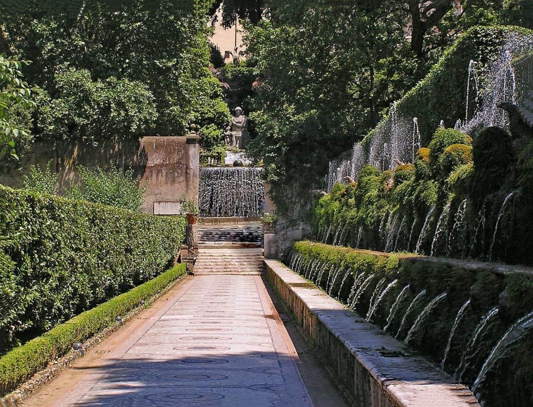 Villa d'Este in Tivoli near Rome, Italy