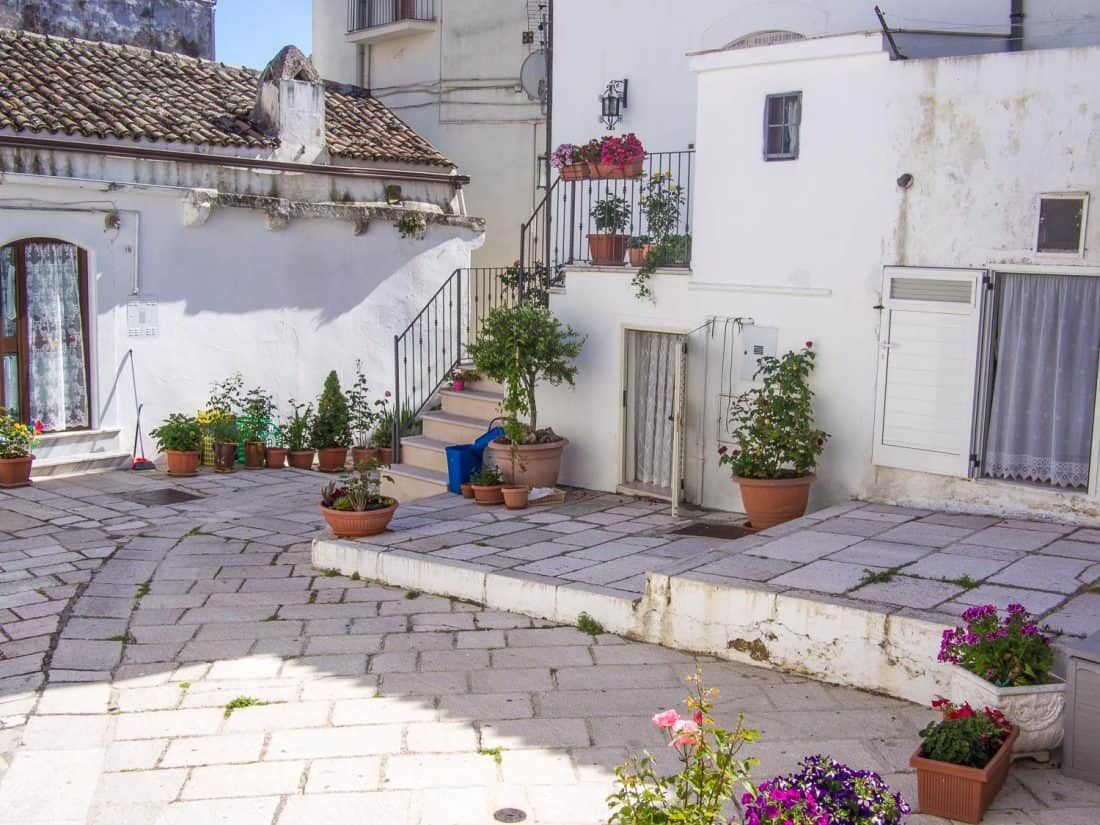 Monte Sant'Angelo mountain village is one of the best places to visit in the Gargano Italy, a peninsula in Puglia