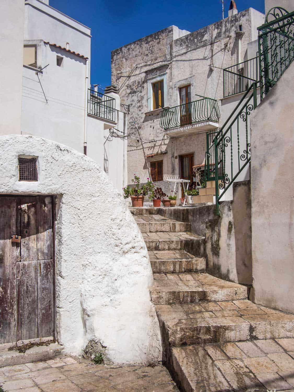 Peschici old town in the Gargano peninsula of Puglia, Italy