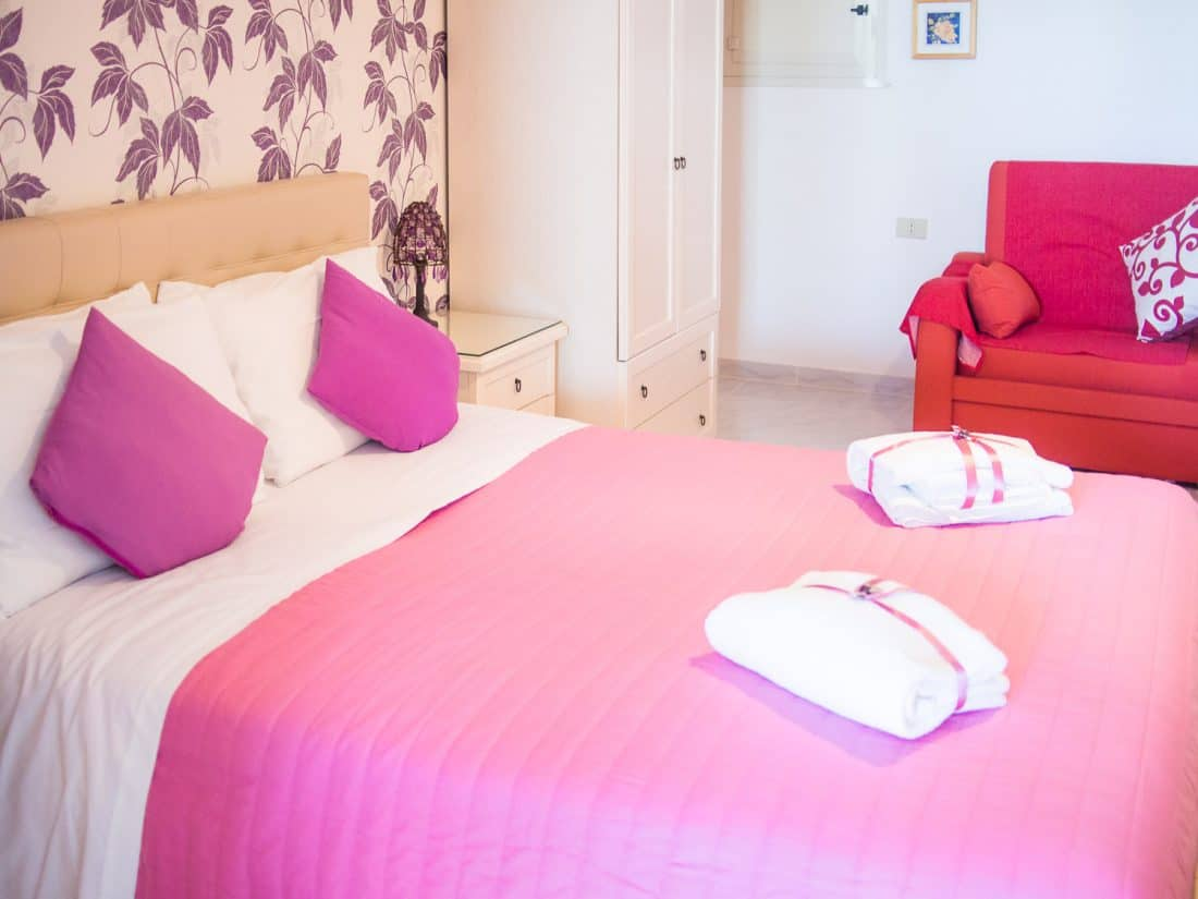 Residence Maresol review - the bedroom of our apartment in Vieste Puglia