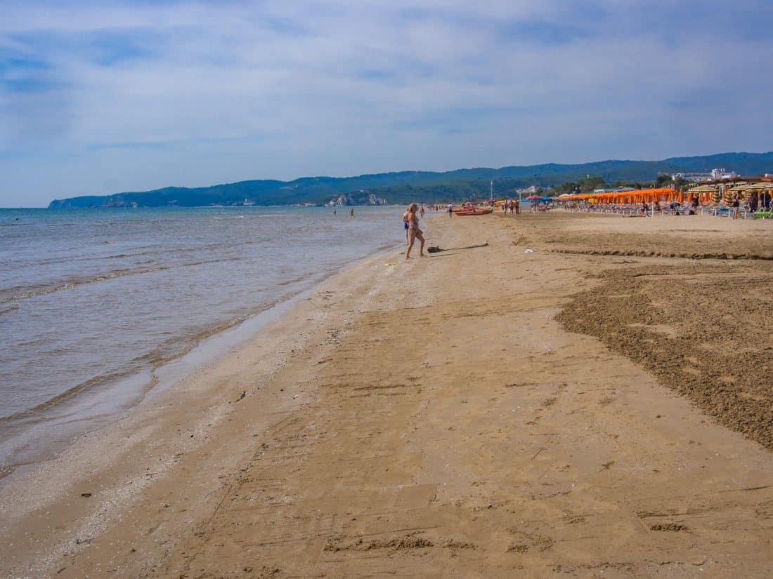 Castello Beach (also known as Scialara or Pizzomunno beach) in Vieste Italy