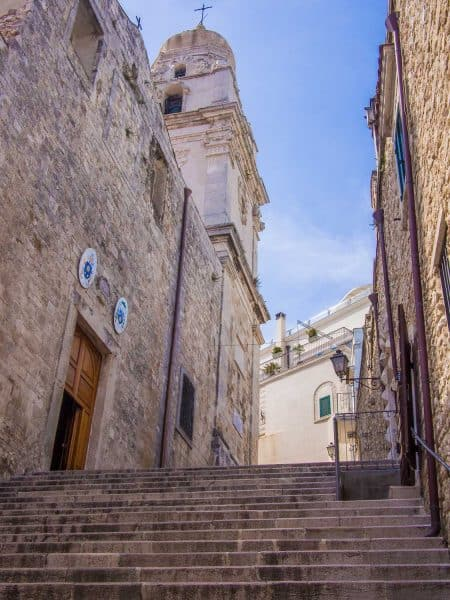 Vieste Cathedral in Vieste Old Town, Puglia, Italy