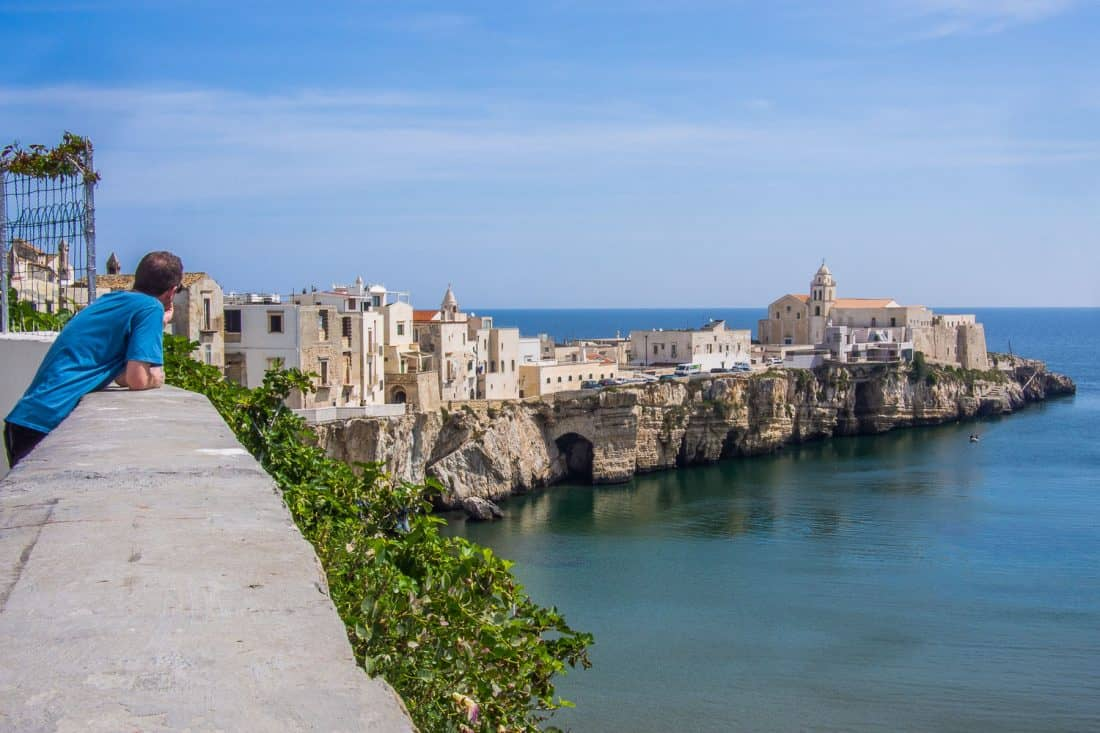 View of Vieste old town from Via Judeca (Belvedere Ripa)