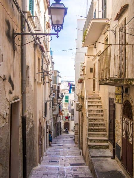 Vieste old town in the Gargano, Puglia