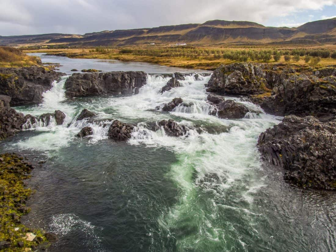 Glanni waterfall in West Iceland