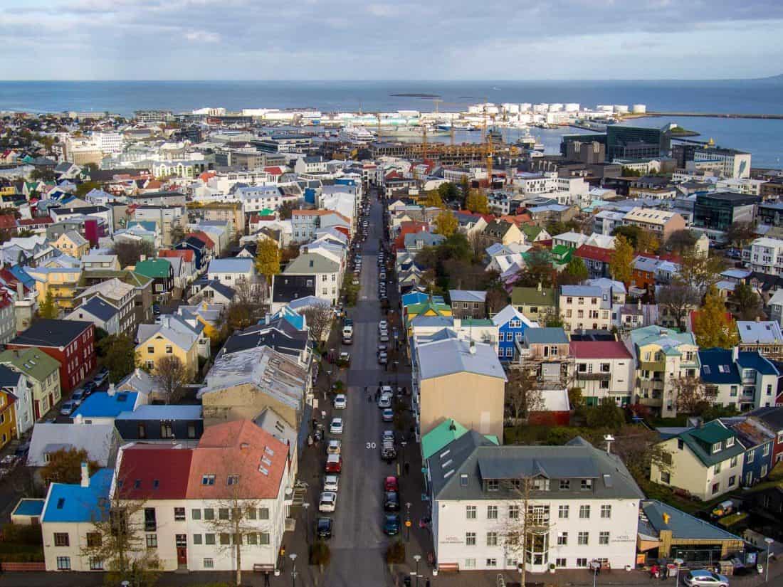 Reykjavik view from Hallgrímskirkja church