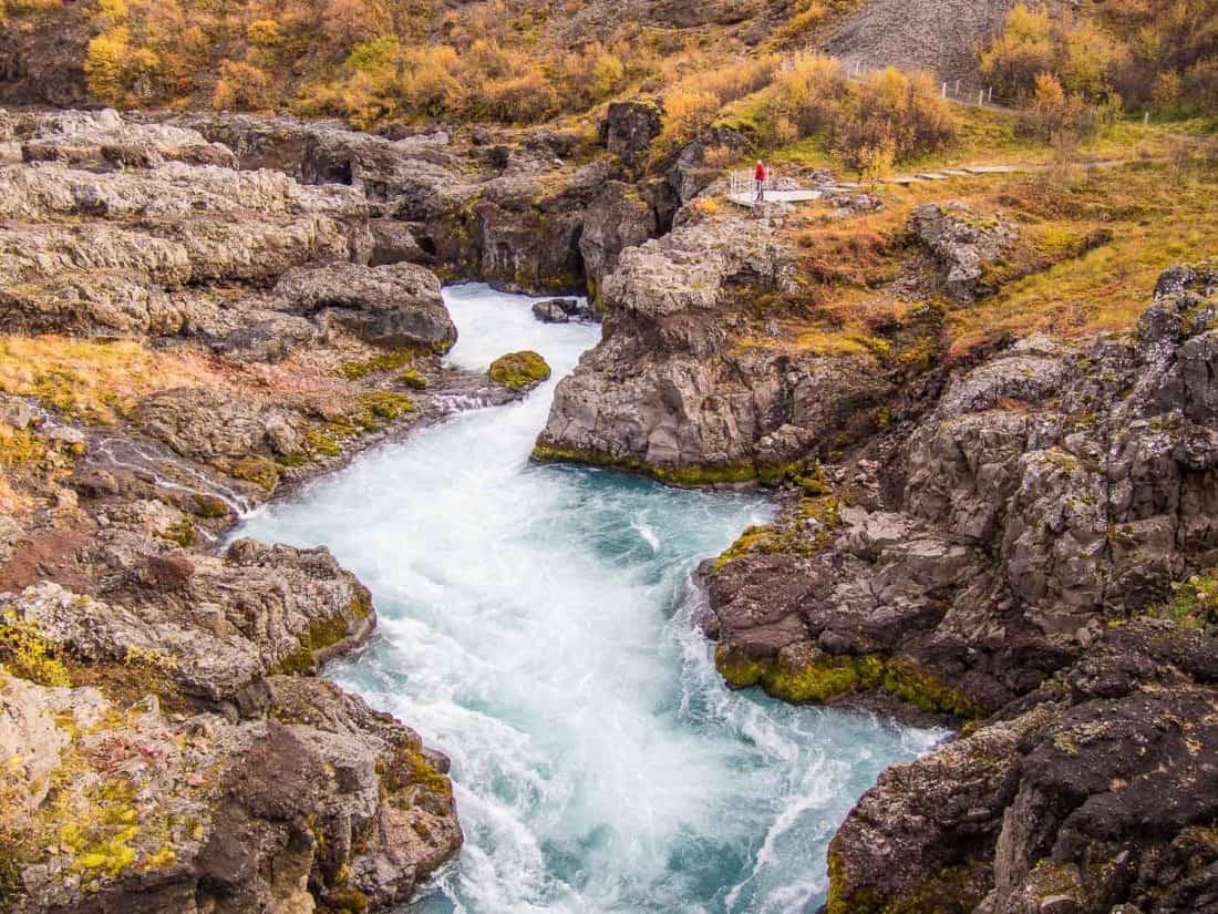 Barnafoss waterfall in West Iceland