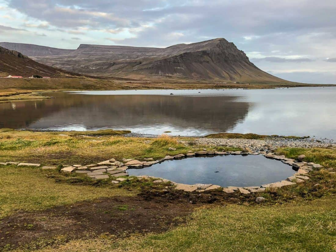 Hot pot at Birkimelur Swimming Pool in the Westfjords - a great stop on our Iceland itinerary