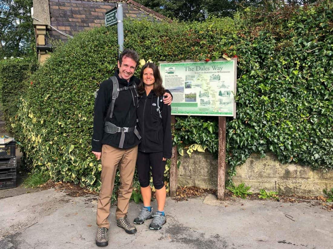 Us at the start of the Dales Way