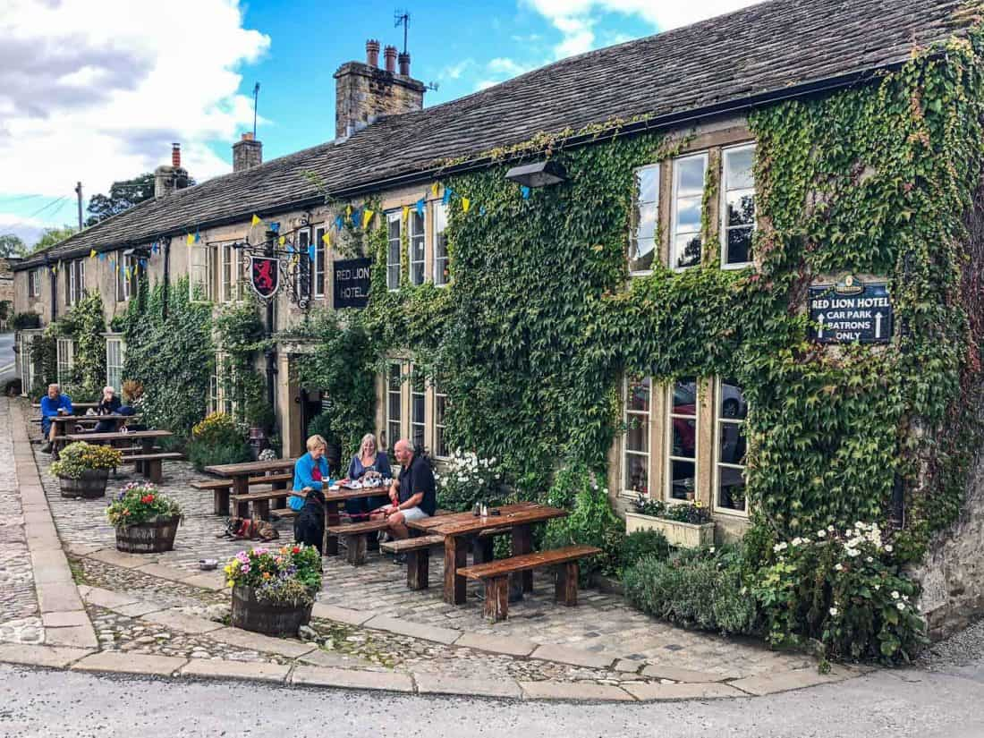 The Red Lion pub in Burnsall on the Dales Way walk