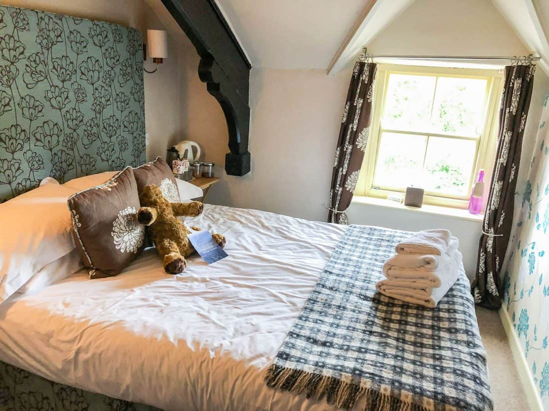 Compact double room in the Manor House annex at The Red Lion in Burnsall