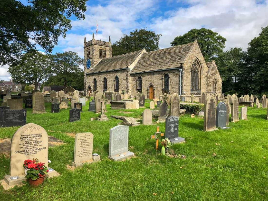 St Peter's Church in Addingham on the Dales Way
