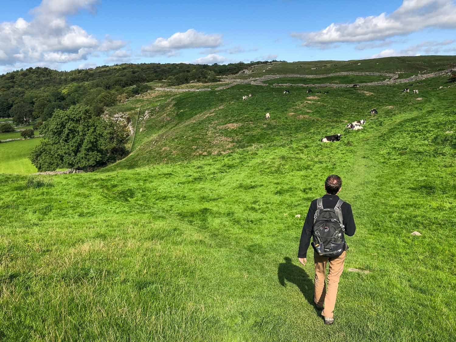 Hiking the Dales Way long distance footpath in northern England