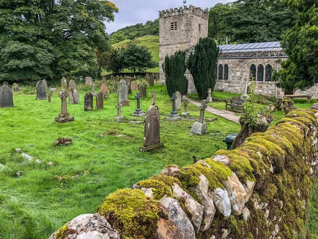 St Michael and All Angels Church in Hubberholme on the Dales Way in Yorkshire, England