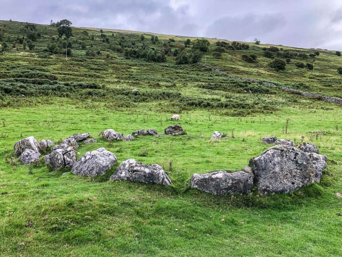 Stone circle on the Dales Way