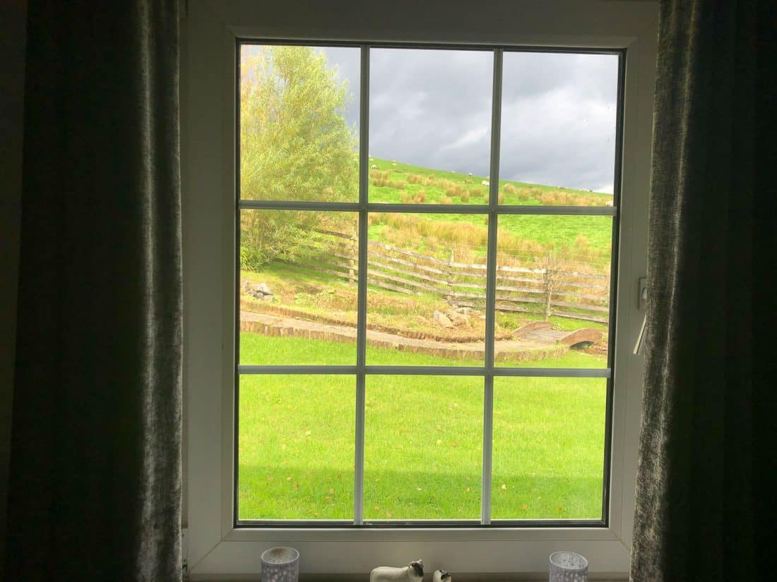 View from our room Pen-Y-Ghent at Shepherd's Cottage B&B on the Dales Way
