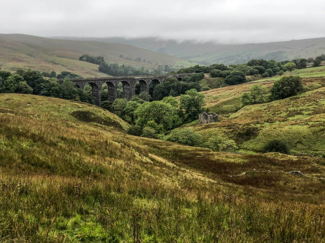 Dent Head Viaduct on the Dales Way walk