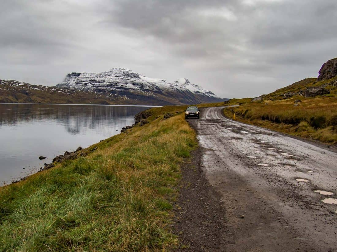 Driving the remote Strandir coast in Iceland