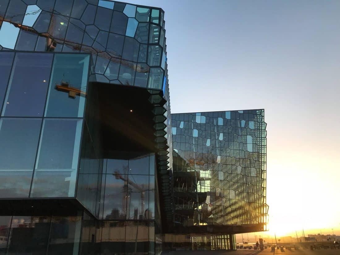 Harpa concert hall, Reykjavik at sunrise