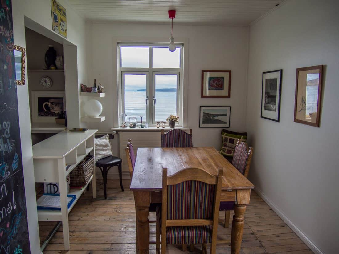 Our Holmavik Airbnb house with sea view in Iceland