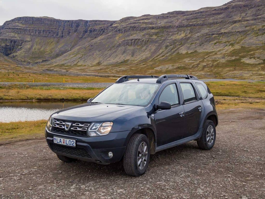 Our Dacia Duster 4WD in the Westfjords, Iceland